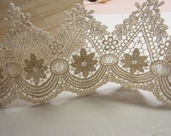 cotton lace trim , crochet trim lace, vintage style trim lace