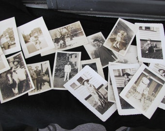 Vintage Photos Lot of 22 Black and White from The 1940's