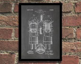 Vacuum Tube Patent Print Steampunk Art Poster