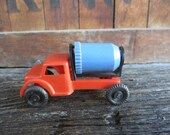 Vintage Plastic Toy Truck Wannatoy1950s Car Cement Truck Constructed Red & Blue  Old Fashion Retro Toy Car Old Toys Vintage Toy