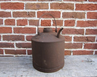 Large Antique Metal Oil Can or Watering Can B&0 RR B and O Railroad RR Baltimore Ohio Metal Can Industrial Decor Piece Early Industrial