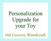 Personalization Upgrade