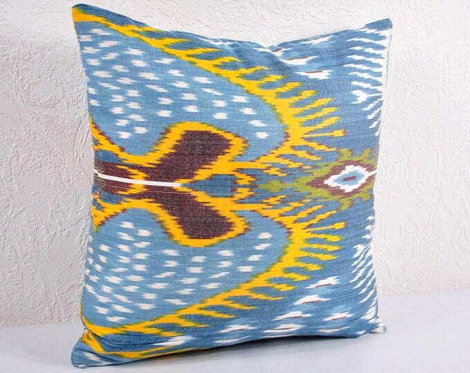 Sale! Ikat Pillow, Hand Woven Ikat Pillow Cover A541-18, Ikat throw pillows, Designer pillows, Decorative pillows, Accent pillows