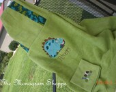 Dinosaur Hooded Bath Towel Wrap Beach Towel Wrap Toddler Baby Children Kids Personalized - FREE MONOGRAMMING