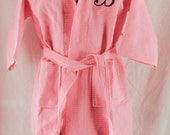 Personalized Children's Pink Robe Spa Waffle  Monogrammed