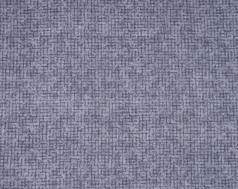 Blue Fabric Cotton Denim Blue Check Pattern Print 3/4 Yard Quilt, Craft, Doll Clothes, Sewing