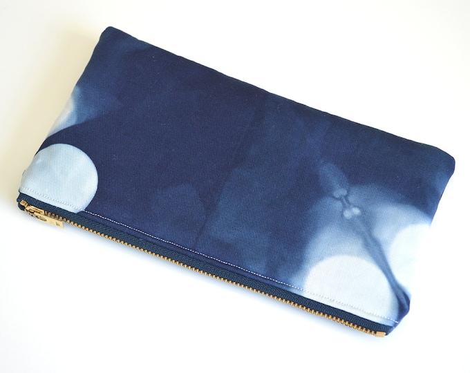 Shibori Pouch - Navy Pencil Case - Marine