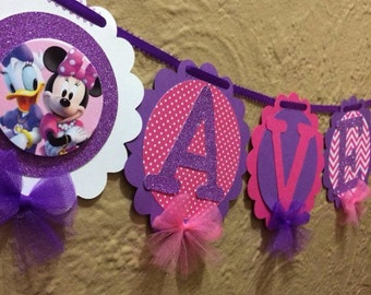 Daisy Duck and Minnie Mouse banner