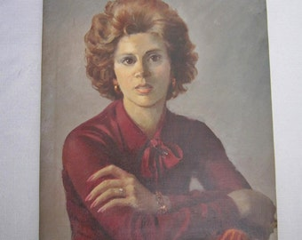 Vintage Portrait Red Haired Woman