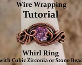 Whirl Ring with Bead or Cubic Zirconia TUTORIAL