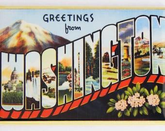 Greetings from Washington Fridge Magnet