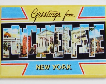 Greetings from Poughkeepsie New York Fridge Magnet