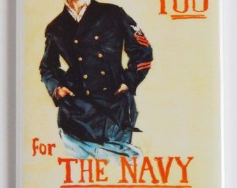 I Want You for the Navy Fridge Magnet