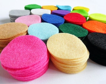 "Felt Circles. Set of 210 pieces. Size 1.5"" inch"