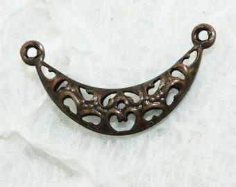 Copper Filigree Connector Beads 23mm (25pcs) C43