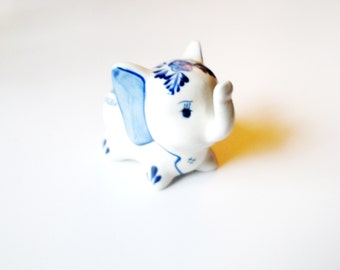 Vintage Elephants - Trunks Up - porcelain elephant
