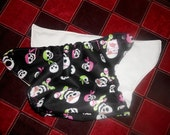 Trim One Size Pink and Green Pirate Pocket Diaper