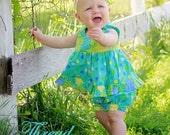 Girl's Dress/Tunic Sewing Pattern, Mia Ruffled Dress/ Top, Toddler Dress Pattern