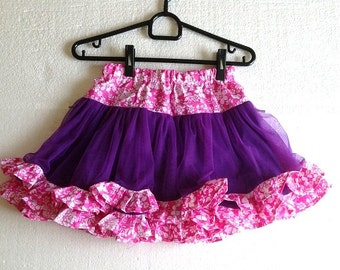 Sewing Pattern Skirt,  Girls pdf pattern for 2 to 10 Years of Age, Children's Sewing Pattern, INSTANT DOWNLOAD, Tulle Tutu Skirt.