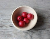 Wooden beads dark red 25 mm set of 5 painted wooden beads DIY jewelry