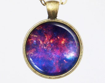 Universe Necklace - Milky Way, Heart of the Milky Way - Galaxy Series