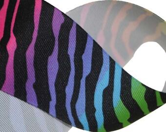 Neon Zebra Print 2.25 inch wide