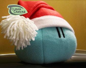 Dango Plush Santa, Dango Pillow Hat Bundle, Clannad, Mochi Plush, Clannad Cosplay - Hand-made - size Medium