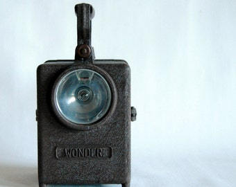 Vintage French Railway Lantern,  torch light, SNCF, Industrial decor