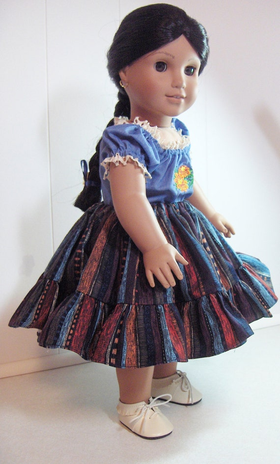 american girl doll josefina camisa with embroidery and skirt. Black Bedroom Furniture Sets. Home Design Ideas