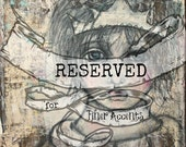 "RESERVED for Finer Accents Painting from ""Ragamuffin Princess"" Series"