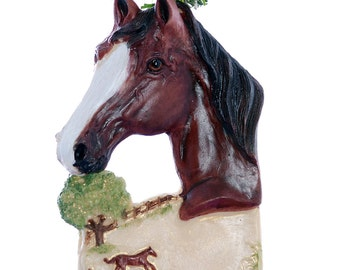 Personalized Horse Christmas ornament - bay horse ornament personalized with name of your choice (h68)