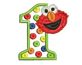 Elmo Embroidery Design, Applique Embroidery Design (201) Instant Download