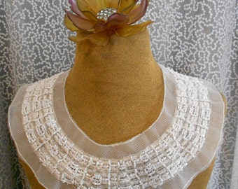 White Stitched Beaded Applique