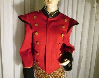 A Michael Jackson Look-1970 Stanbury Red and Black THRILLER Band Jacket