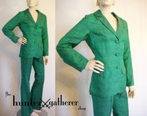 SALE -Vintage Country Western Suit Rodeo Queen Turquoise Blue by Panhandle Slim Deadstock U31
