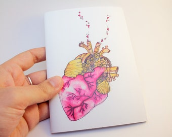 Heart mini notebook