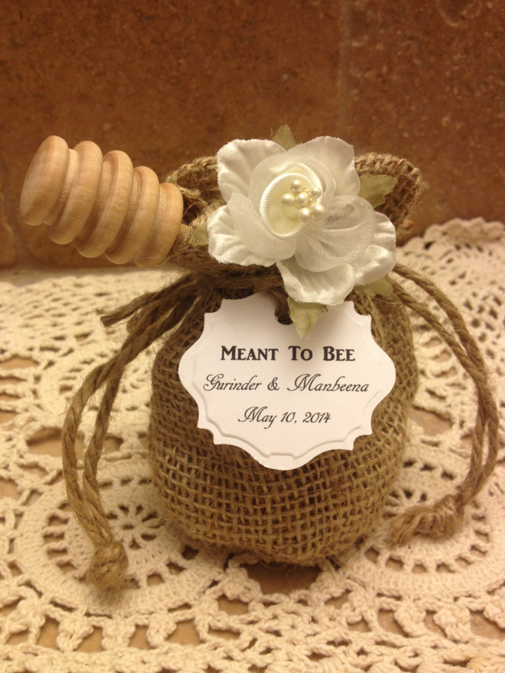 20 qty meant to bee honey wedding shower favors with dipper for Honey bee wedding favors