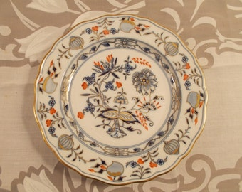 Rich Blue Onion Bread and Butter Plate by Meissen