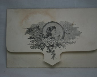 Antique Christmas and New Year Greeting 1887
