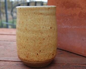 Sale~ Vintage clay POTTERY vase cup mug