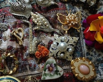 MYSTERY Brooch - 1950s-1990s - let us choose one for you!