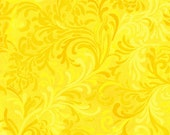 "108"" Essentials by Wilmington Prints, 108"" Quiltbacking, Flourish, Yellow Fabric, Yellow Floral Fabric, 02274"