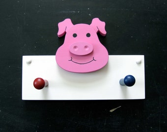 Silly Pig Coat Rack