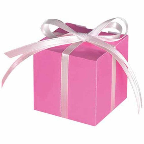 Baby Shower Thank You Gift Boxes : Favor box gift pink fancy bridal shower baby