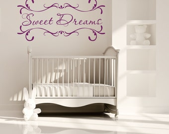 """Sweet Dreams Vinyl Wall Decal...............""""Your choice of color"""""""