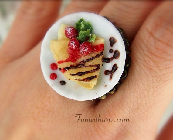Dollhouse Food - French Yummy Crepe