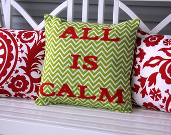 All is Calm Pillow Cover 18x18