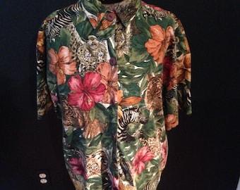 Tropical safari short sleeved shirt