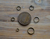 Iron Jump Rings Antique Bronze Jump Rings 1mm Thick Antique Bronze O-ring Jewelry Making Supplies 4mm - 10mm