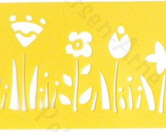 """Row of Flowers - Stencil by Delta 3""""X8.5"""""""